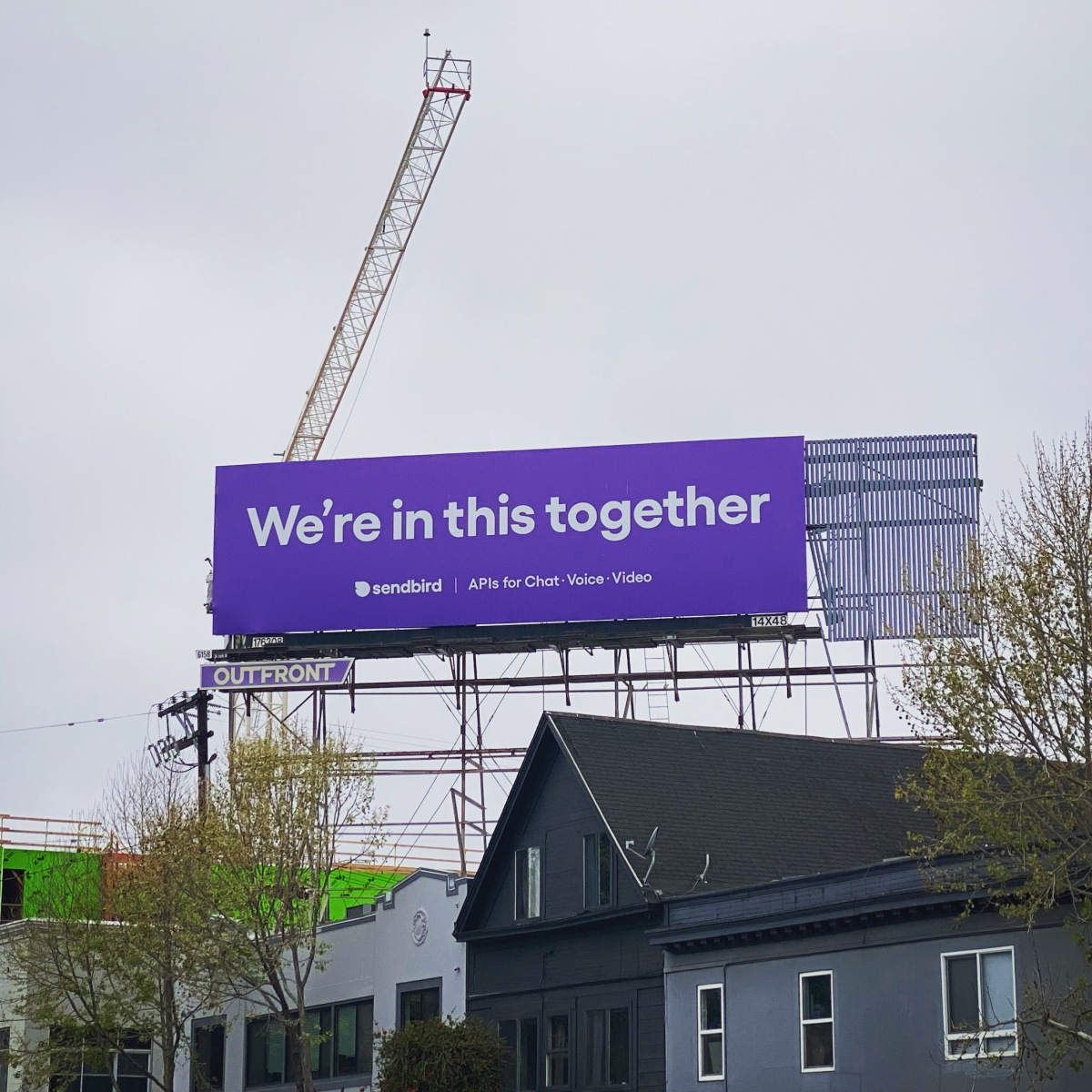 SendBird's First Billboard